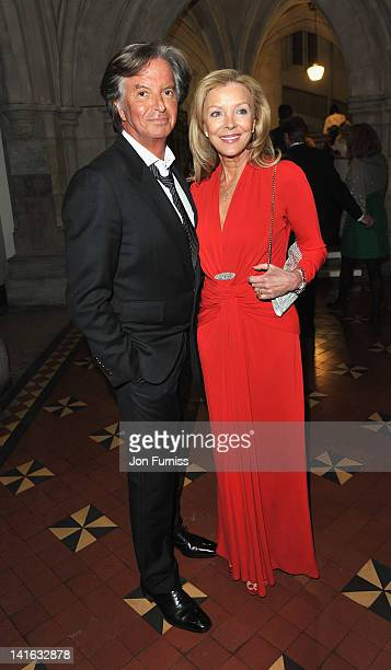 Richard Caring and Jacqueline Stead attends at The Faberge Big Egg Hunt Grand Auction raising money for Action for Children and Elephant Family at...