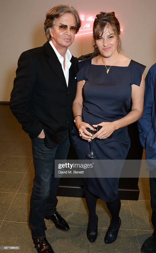 Richard Caring (L) and <a gi-track='captionPersonalityLinkClicked' href=/galleries/search?phrase=Tracey+Emin&family=editorial&specificpeople=203219 ng-click='$event.stopPropagation()'>Tracey Emin</a> attend the launch of 'Serpentine', a new fragrance by The Serpentine Gallery and fashion house Commes des Garcons featuring bottle artwork by Trace Emin, on April 28, 2014 in London, England.