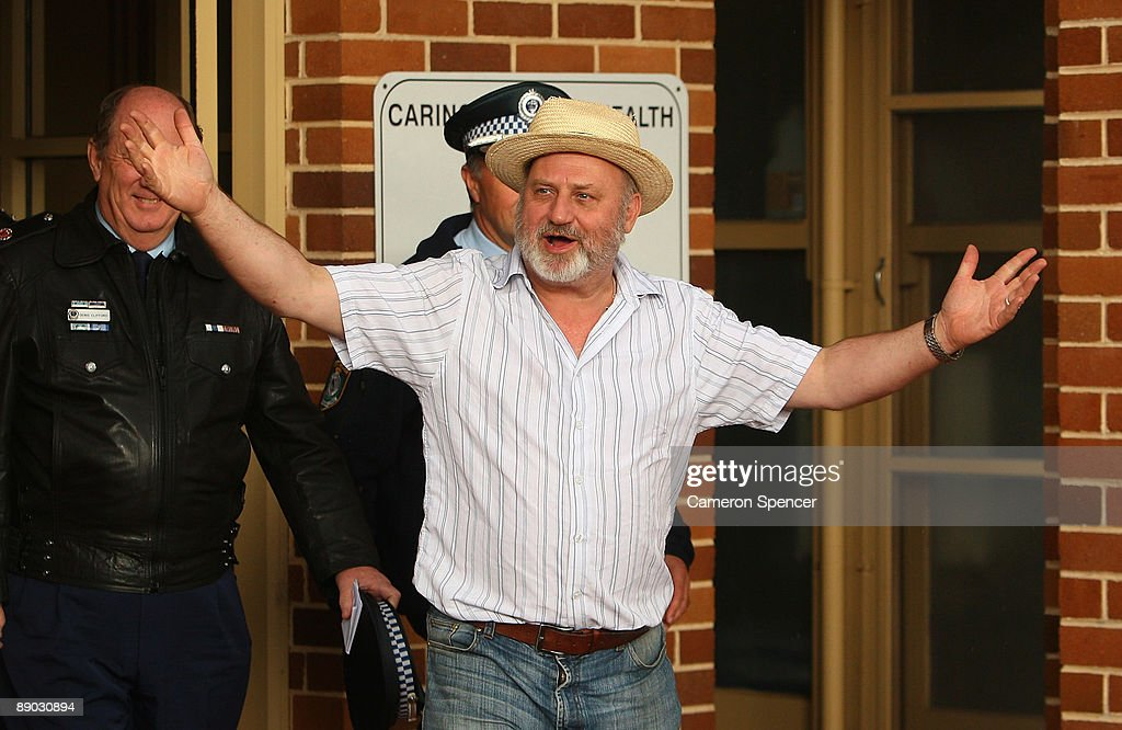 Richard Cass, father of Jamie Neale, shows his relief as he walks out of the Blue Mountains Hospital on July 15, 2009 in Katoomba, Australia. Missing backpacker Jamie Neale was found earlier today after surviving 12 days lost in the bush near Katoomba suffering from only dehydration and exposure.