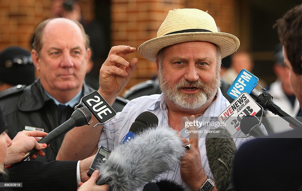 Richard Cass, father of Jamie Neale, talks to media outside the Blue Mountains Hospital on July 15, 2009 in Katoomba, Australia. Missing backpacker Jamie Neale was found earlier today after surviving 12 days lost in the bush near Katoomba suffering from only dehydration and exposure.