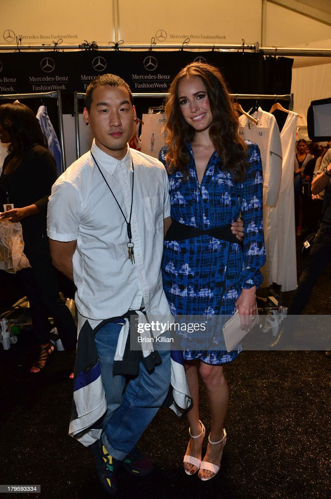 Richard Chai and <a gi-track='captionPersonalityLinkClicked' href=/galleries/search?phrase=Louise+Roe&family=editorial&specificpeople=4300958 ng-click='$event.stopPropagation()'>Louise Roe</a> attend the Richard Chai -- Love & Richard Chai Men's show during Spring 2014 Mercedes-Benz Fashion Week at The Stage at Lincoln Center on September 5, 2013 in New York City.