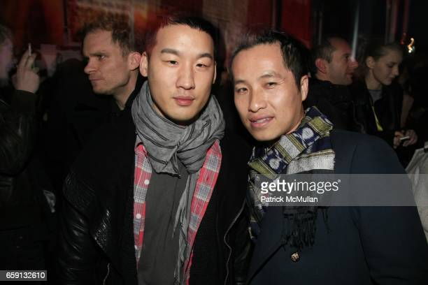 Richard Chai and Phillip Lim attend RADAR ENTERTAINMENT THE LAST MAGAZINE Toast Fashion Week at Studio 385 Broadway on February 20 2009 in New York...