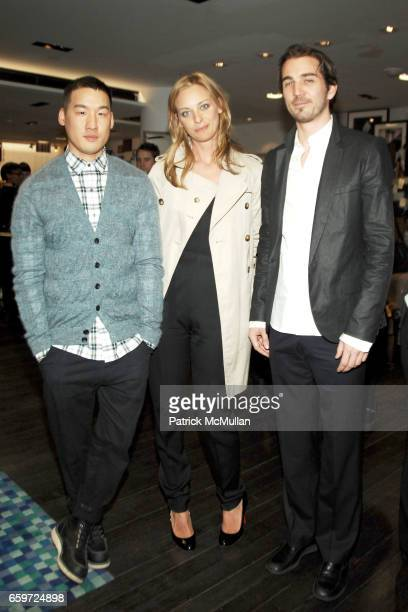 Richard Chai Jessica Diehl and Jamie Johnson attend BARNEYS NEW YORK Celebrates RICHARD CHAI BEN JONES TShirt collaboration to benefit The ELIZABETH...