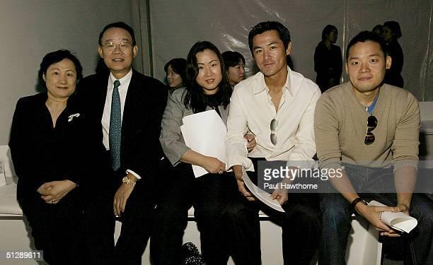 Richard Chai's family Sung Chul Gloria Kenj I Miyadai and Edward attend the Richard Chai Spring 2005 fashion show during the Olympus Fashion Week...