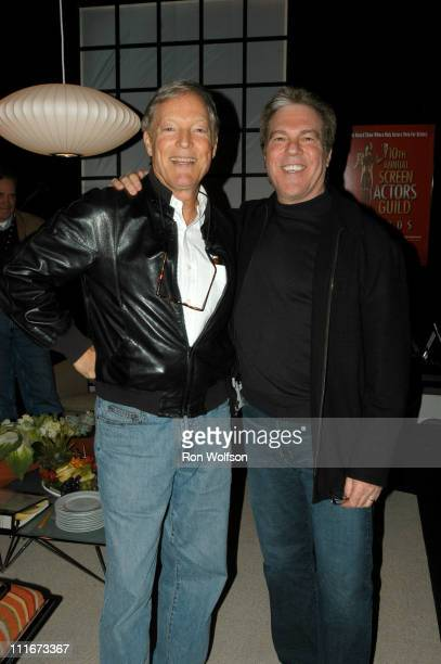 Richard Chamberlain and Jeff Margolis during 2004 Screen Actors Guild Awards Rehearsals at The Shrine Auditorium in Los Angeles California United...