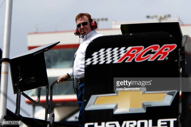 Richard Childress of Richard Childress Racing during practice for the Bass Pro Shop NRA 500 at Bristol Motor Speedway on August 18 2017 Photo by Jeff...