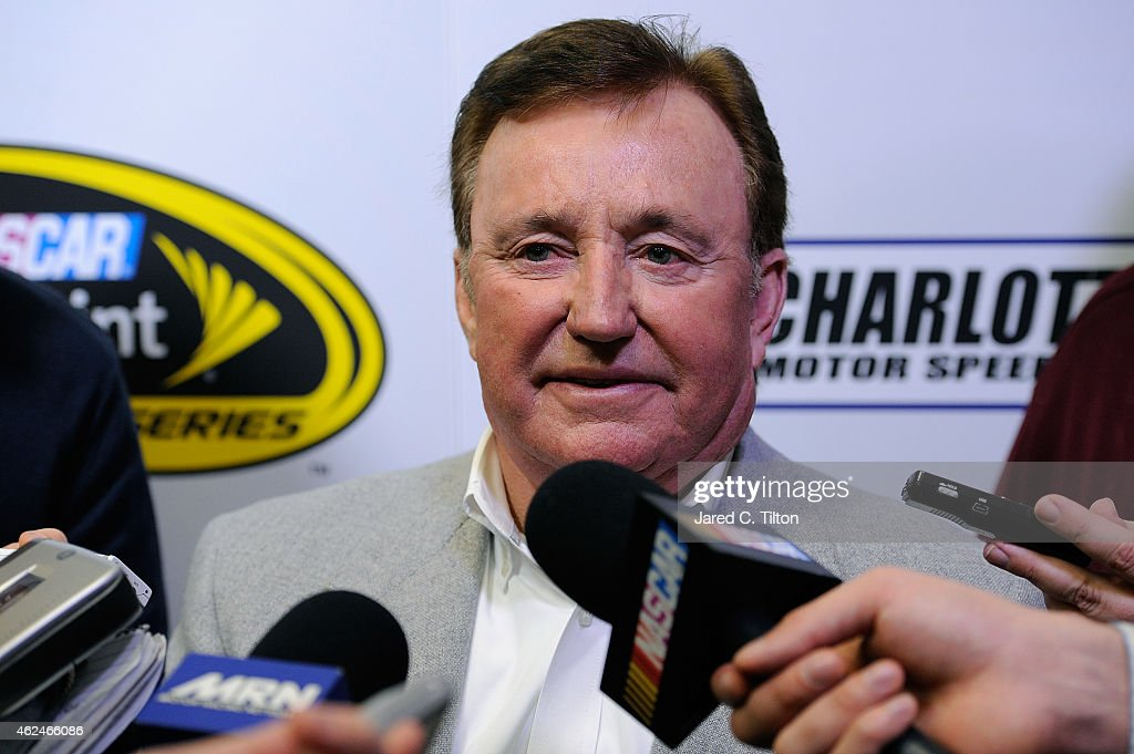 Richard Childress owner of Richard Childress Racing answers questions from the media during day 4 of the Charlotte Motor Speedway NASCAR Media Tour...