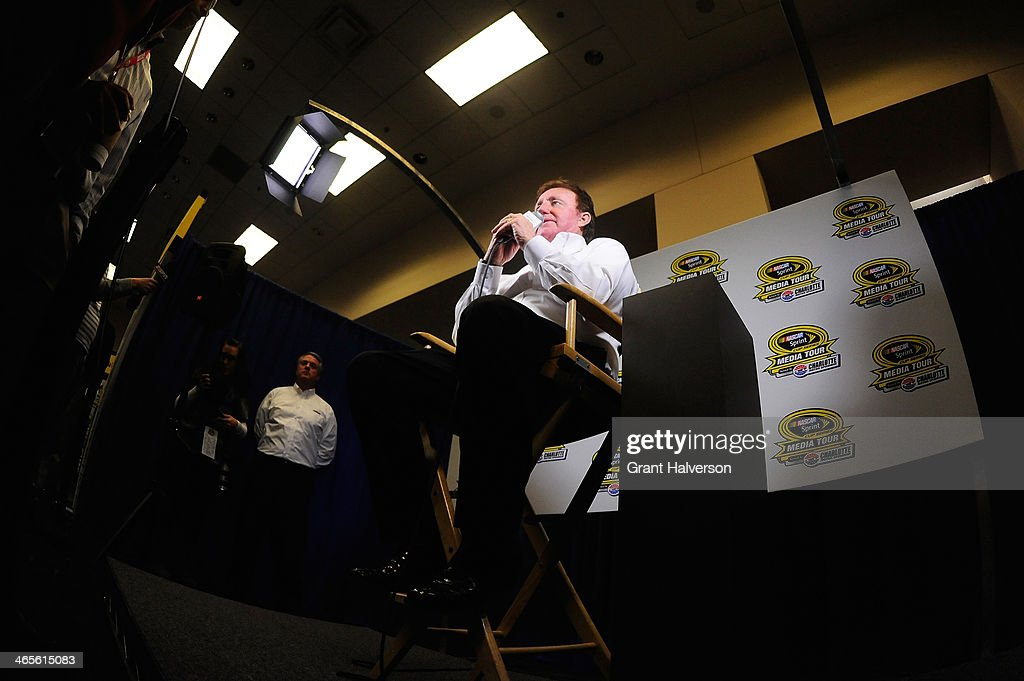 Richard Childress, owner of Richard Childress Racing, speaks with the media during the NASCAR Sprint Media Tour at Charlotte Convention Center on January 28, 2014 in Charlotte, North Carolina.