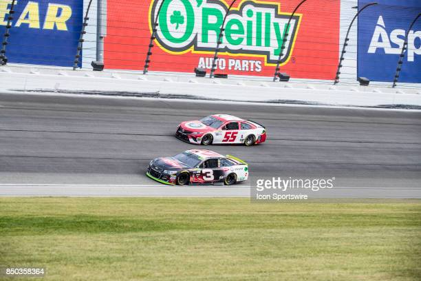 Richard Childress Racing DOW Chevy driver Austin Dillon and US First Responders Association Toyota driver Gray Gaulding during the Monster Energy Cup...
