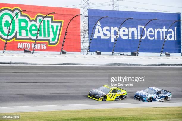 Richard Childress Racing Moen/Menards Chevy driver Paul Menard and StewartHaas Racing Aspen Dental Ford driver Danica Patrick during the Monster...