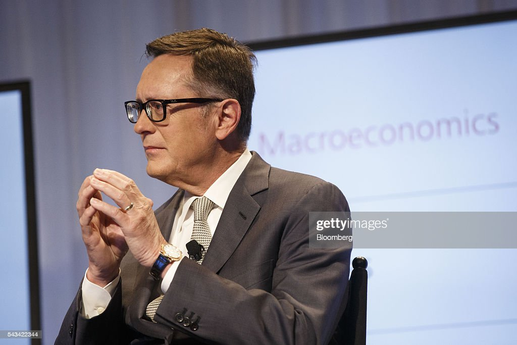 Richard Clarida, global strategic advisor and managing director of Pacific Investment Management Co. (PIMCO), listens during the UBS CIO Global Forum at the Beverly Wilshire Hotel in Beverly Hills, California, U.S., on Tuesday, June 28, 2016. The forum are sources experts from all regions of the world to address regional issues affecting global markets. Photographer: Patrick T. Fallon/Bloomberg via Getty Images