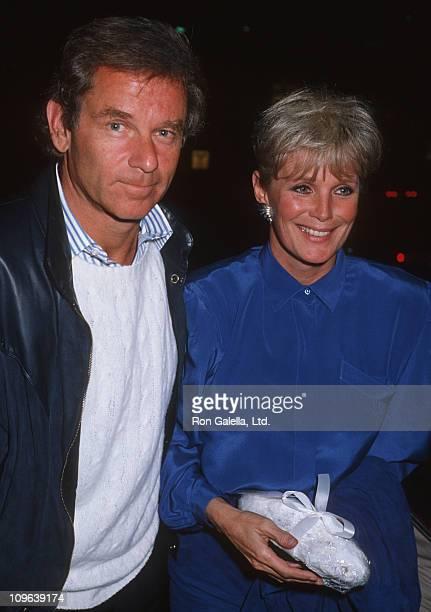 Richard Cohen and Linda Evans during Linda Evans Sighting at Spago in Hollywood December 8 1985 at Spago Restaurant in Hollywood California United...