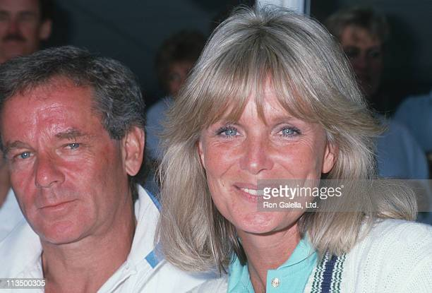 Richard Cohen and Linda Evans during Newsweek Hosts Grand Champions Tennis Tournament at Hyatt Hotel in Palm Springs California United States