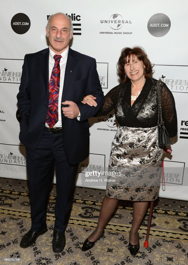 Richard Collins (L) and Janis Winehouse Collins attend the 2013 Amy Winehouse Foundation Inspiration Awards and Gala at The Waldorf=Astoria on March 21, 2013 in New York City.