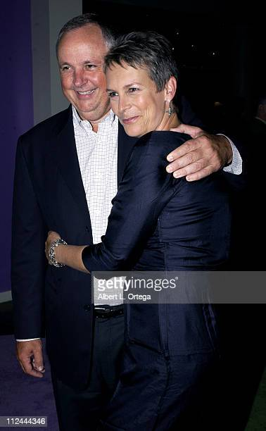 Richard Cook and Jamie Lee Curtis during Premiere of 'Freaky Friday' After Party at Hollywood Highland in Hollywood California United States