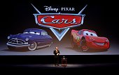 Richard Cook chairman of Walt Disney Motion Pictures speaks before the first public screening of Pixar Animation Studios' film 'Cars' at ShoWest...