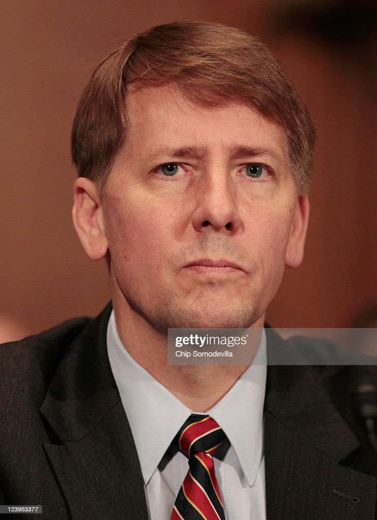 Richard Cordray testifies during his confirmation hearing before the Senate Banking, Housing and Urban Affairs Committee on Capitol Hill September 6, 2011 in Washington, DC. Former Ohio Attorney General Cordray has been nominated by President Barack Obama to be the first director of the United States Consumer Financial Protection Bureau.