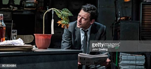 Richard Coyle as Larry Lamb performs on stage in a new production of the play 'Ink' at The Almeida Theatre on June 26 2017 in London England