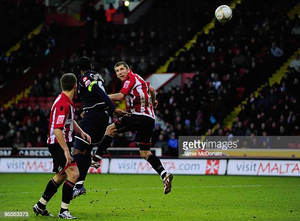 Richard Cresswell scores a goal for Sheffield United during the FA Cup sponsored by EON 3rd Round match between Sheffield United and Queens Park...