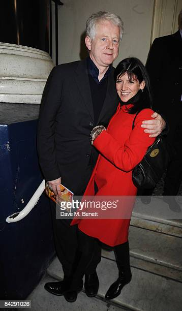 Richard Curtis and Emma Freud attend the opening night of 'Oliver' at the Theatre Royal Drury Lane on January 14 2009 in London England