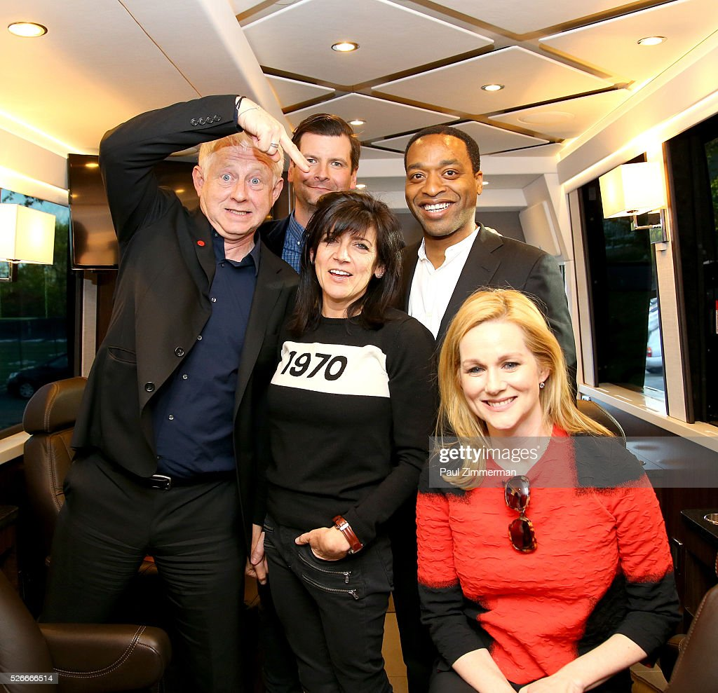 Richard Curtis, Emma Freud, Luke Parker Bowles, Chiwetel Ejiofor and Laura Linney attend the Montclair Film Festival 2016 Richard Curtis Conversation And Filmmaker Tribute at Montclair Kimberly Academy on April 30, 2016 in Montclair, New Jersey.