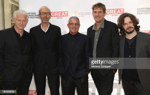 Richard Curtis Eric Fellner Ron Meyer Tim Bevan and Edgar Wright attend the 21st Annual Hamptons International Film Festival on October 12 2013 in...