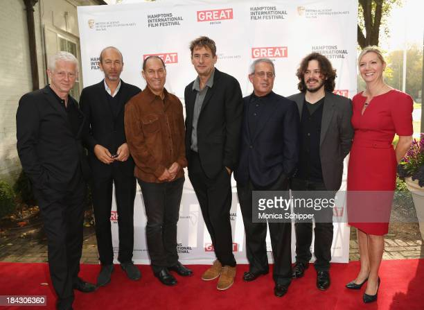 Richard Curtis Eric Fellner Stuart Match Suna Tim Bevan Ron Meyer Edgar Wright and Anne Chaisson attend the 21st Annual Hamptons International Film...