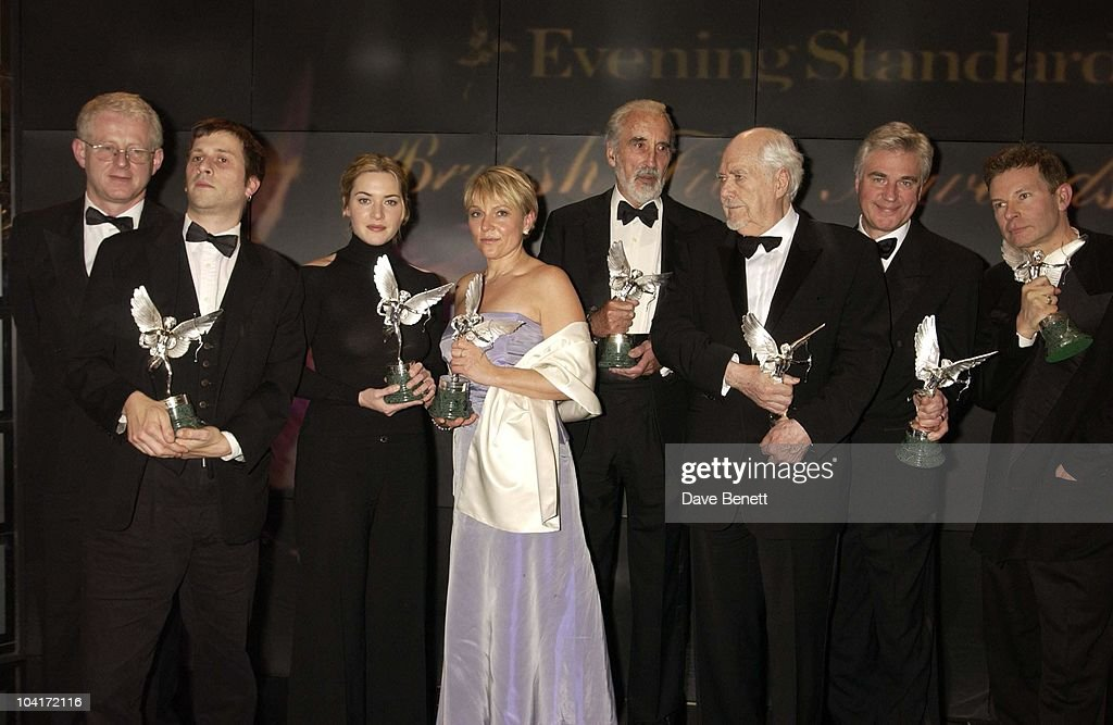 Richard Curtis, Kate Winslet, Helen Fielding, Christopher Lee, Robert Altman, Evening Standard Film Awards, At The Savoy Hotel, London