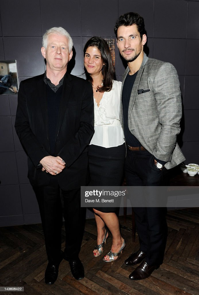 Richard Curtis Katrina Pavlos and David Gandy attend as Grand Classics Richard Curtis and Grey Goose celebrate 100 years of Universal Pictures'...