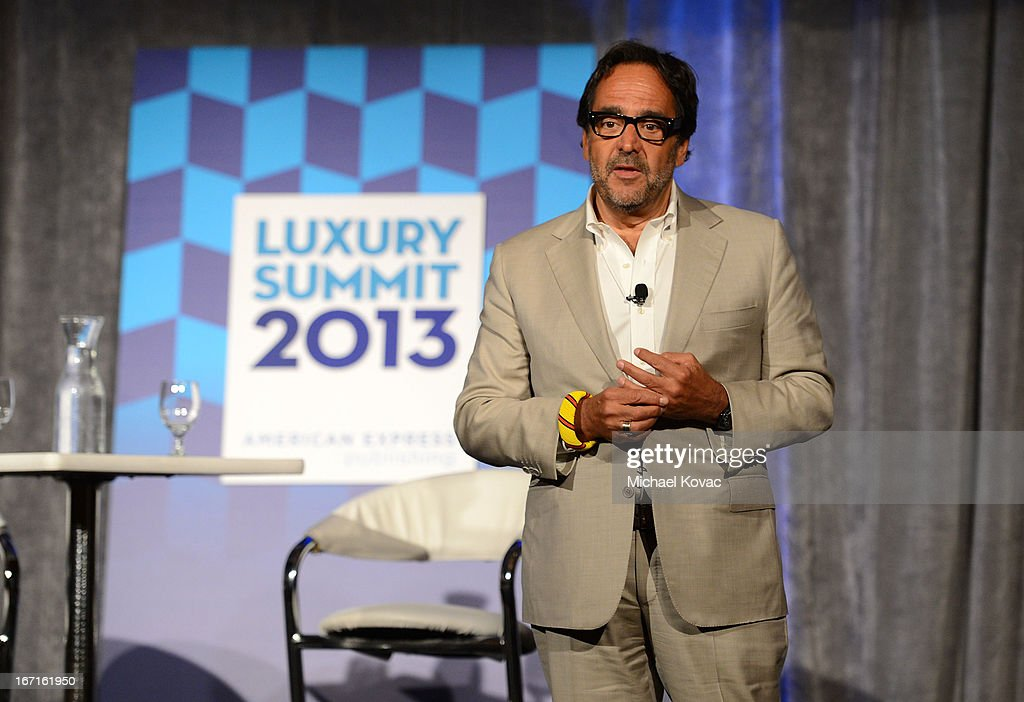 Richard David Story, Senior Vice President and Editor in Chief, Departures, speaks onstage during The American Express Publishing Luxury Summit 2013 at St. Regis Monarch Beach Resort on April 21, 2013 in Dana Point, California.