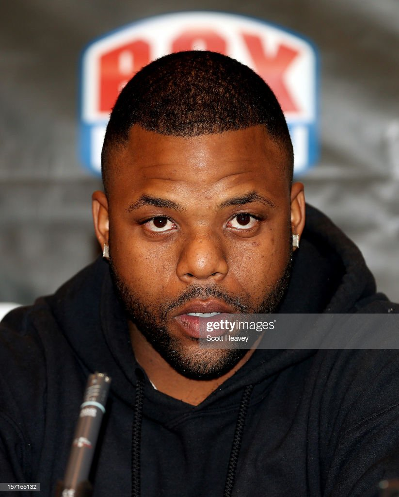 Richard Dawson during a press conference for his Heavyweight bout with Andrew Flintoff at The Hilton Hotel on November 29, 2012 in Manchester, England.