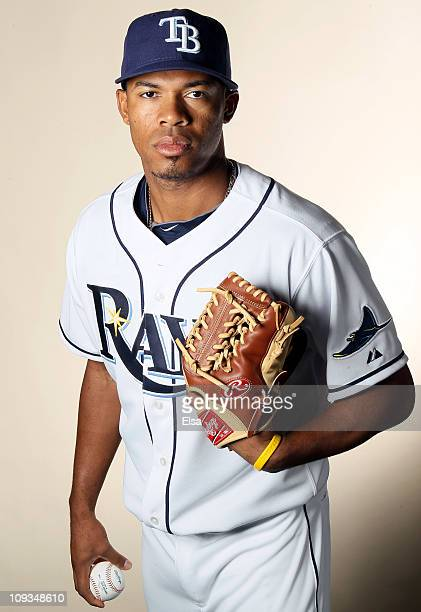Richard De Los Santos of the Tampa Bay Rays poses for a portrait during the Tampa Bay Rays Photo Day on February 22 2011 at the Charlotte Sports...