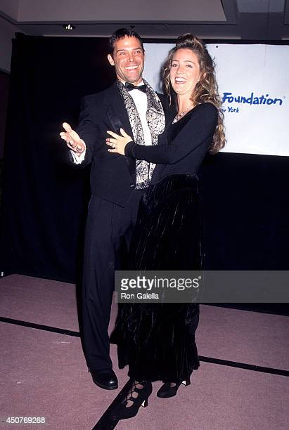 Richard Dean and actress Susan Haskell attend the Starlight Foundation of New York's 10th Anniversary Dinner/Dance on March 13 1995 at the Marriott...