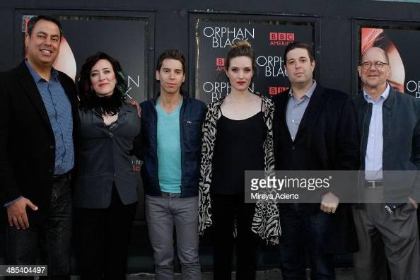 Richard DeCroce Maria Doyle Kennedy Jordan Gavaris Evelyne Brochu Matthew Stein and Perry Simon attend the 'Orphan Black' premiere at Sunshine Cinema...