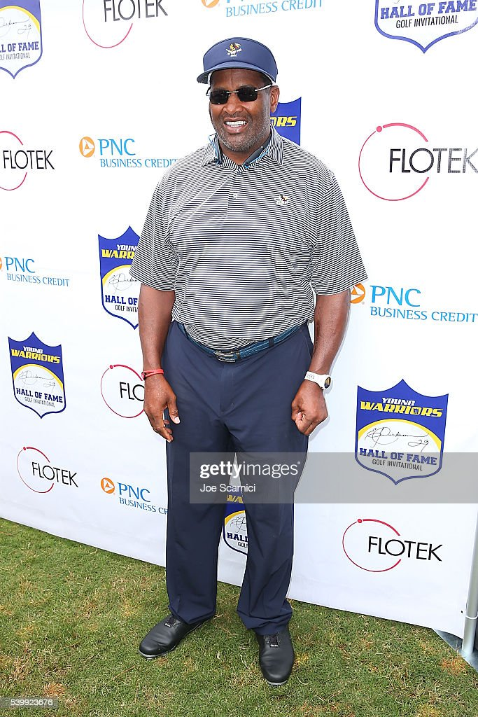 <a gi-track='captionPersonalityLinkClicked' href=/galleries/search?phrase=Richard+Dent&family=editorial&specificpeople=240277 ng-click='$event.stopPropagation()'>Richard Dent</a> arrives at Eric Dickerson's 3rd Annual Hall Of Fame Golf Invitational at Pelican Hill Golf Club on June 13, 2016 in Newport Beach, California.