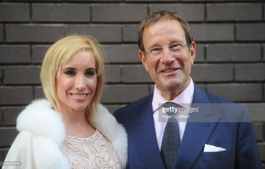 Richard Desmond (R) attends as Chickenshed perform a caberet showcase at The London Television Centre on April 16, 2013 in London, England.