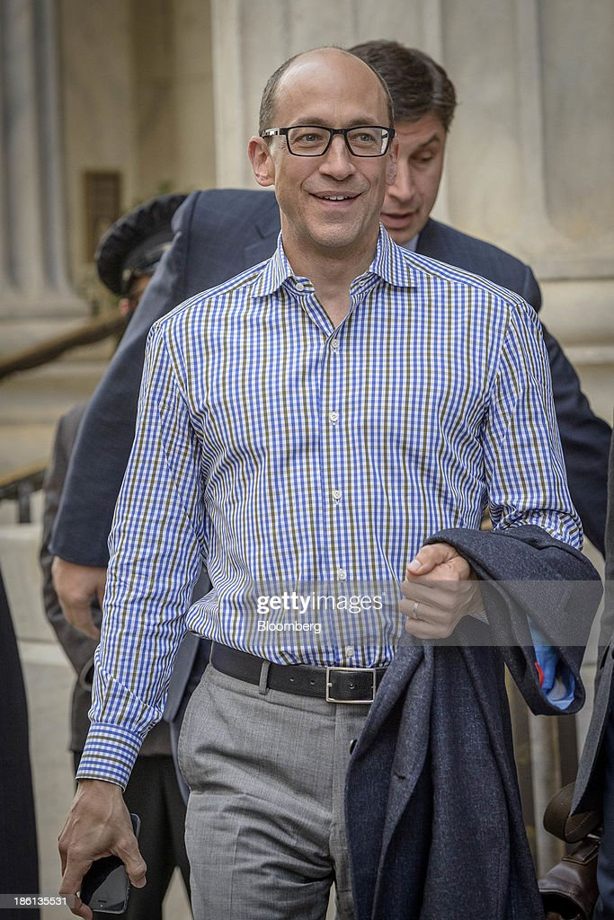 Richard 'Dick' Costolo, chief executive officer of Twitter Inc., departs the Ritz-Carlton Hotel in Philadelphia, Pennsylvania, U.S., on Monday, Oct. 28, 2013. The San Francisco-based company is seeking a valuation of 9.5 times 2014 sales in its IPO next month, according to data released in a filing with the Securities and Exchange Commission and analyst projections compiled by Bloomberg. Photographer: Jim Graham/Bloomberg via Getty Images