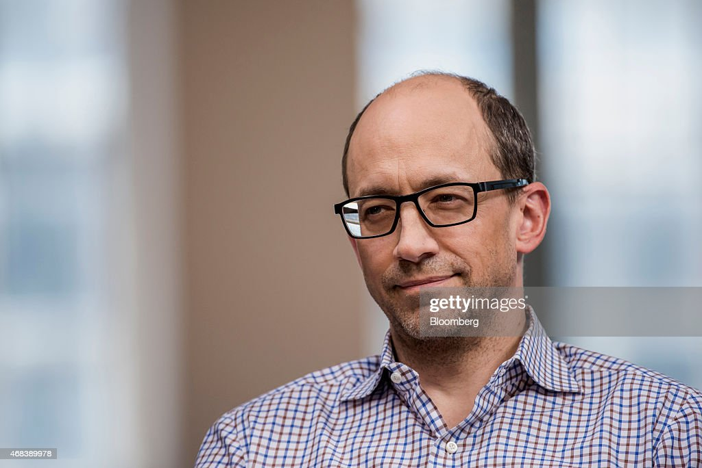 Richard 'Dick' Costolo chief executive officer of Twitter Inc pauses during a Bloomberg Television interview in San Francisco California US on...