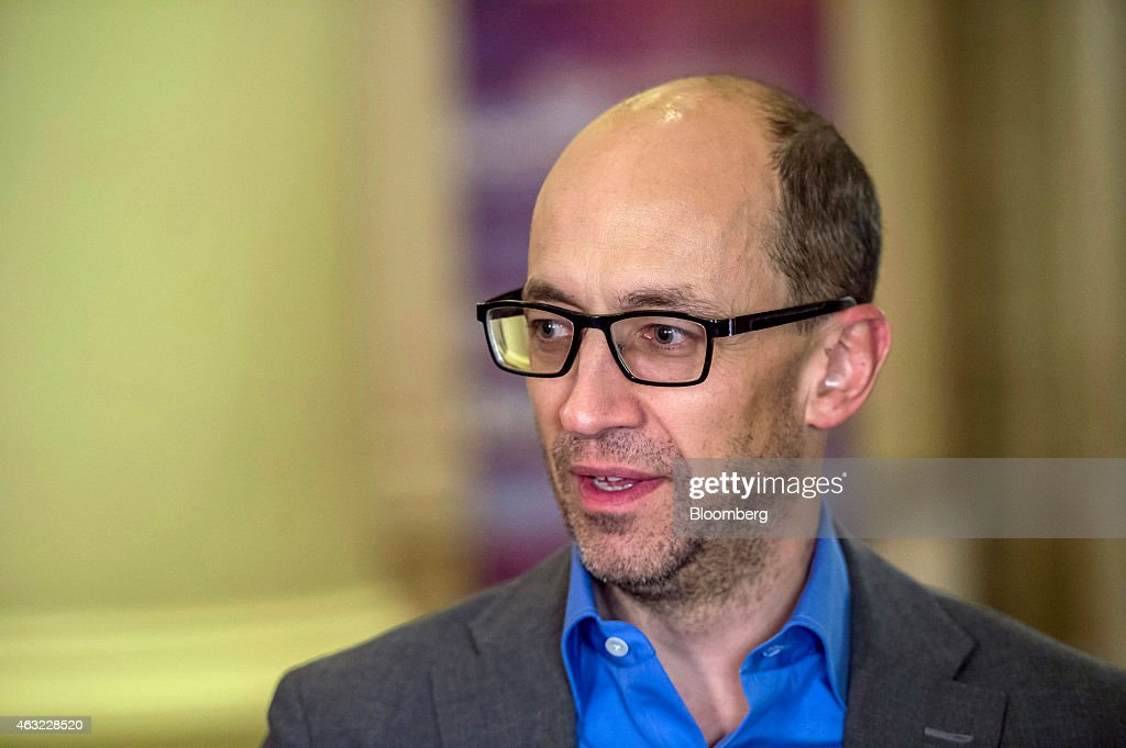 Richard 'Dick' Costolo chief executive officer of Twitter Inc speaks during a Bloomberg Television interview at the Goldman Sachs Technology And...