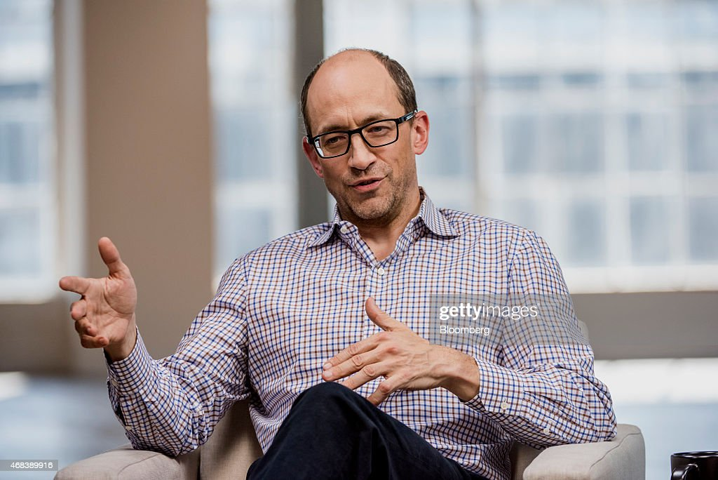 Richard 'Dick' Costolo chief executive officer of Twitter Inc speaks during a Bloomberg Television interview in San Francisco California US on...