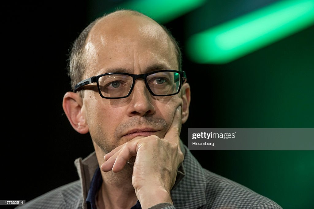 Richard 'Dick' Costolo departing chief executive officer of Twitter Inc listens to a question during the 2015 Bloomberg Technology Conference in San...