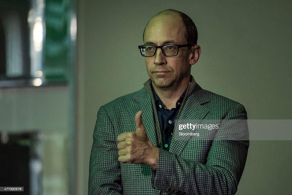 Richard 'Dick' Costolo departing chief executive officer of Twitter Inc gestures before speaking during the 2015 Bloomberg Technology Conference in...