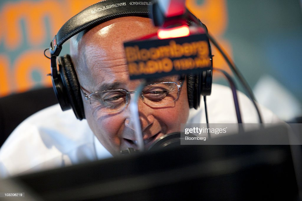 Richard 'Dick' Grasso, former chief executive officer of the New York Stock Exchange, guest hosts on Bloomberg radio in New York, U.S., on Monday, Aug. 2, 2010. Grasso spoke on Treasury Secretary Timothy GeithnerÕs speech on legislation designed to overhaul financial regulation. Photographer: Andrew Harrer/Bloomberg via Getty Images