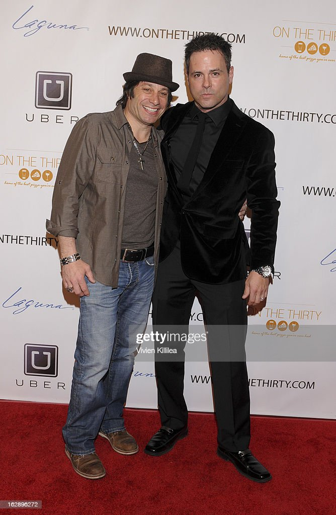 Richard Disisto and owner of On The Thirty Shawn Kerwin attend 'On The Thirty' Grand Opening at On The Thirty on February 28, 2013 in Sherman Oaks, California.