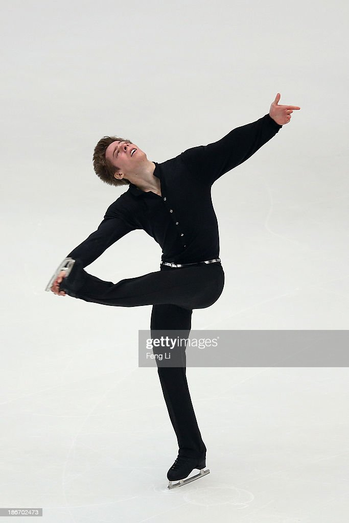 Richard Dornbush of United States skates in the Men Free Skating during Lexus Cup of China ISU Grand Prix of Figure Skating 2013 at Beijing Capital Gymnasium on November 2, 2013 in Beijing, China.