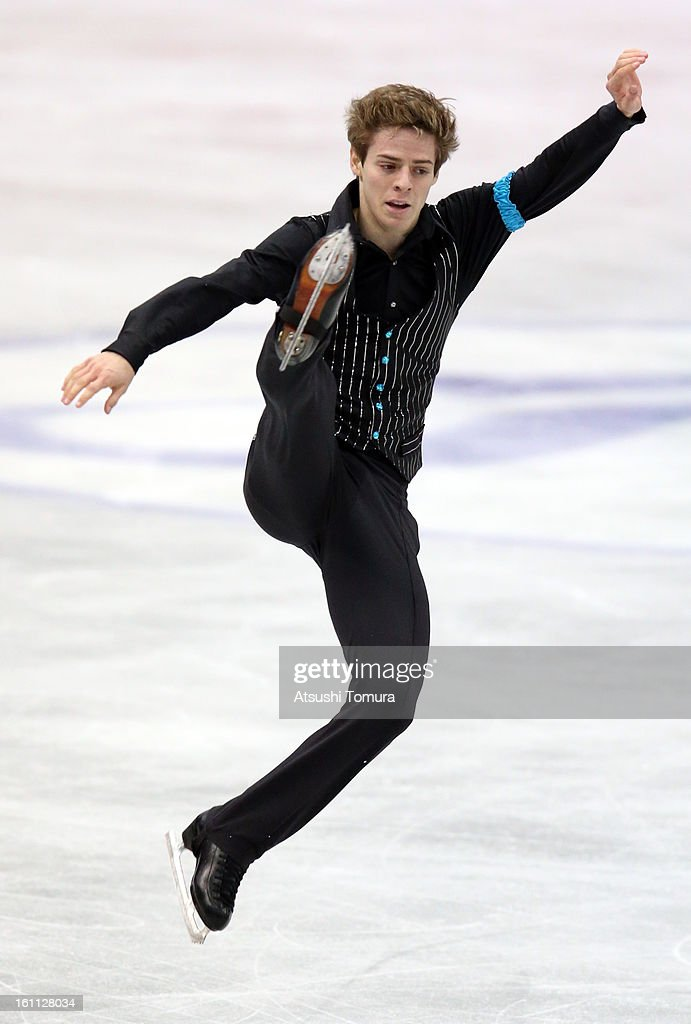 Richard Dornbush of USA competes in the Men's Free Skating during day two of the ISU Four Continents Figure Skating Championships at Osaka Municipal Central Gymnasium on February 9, 2013 in Osaka, Japan.
