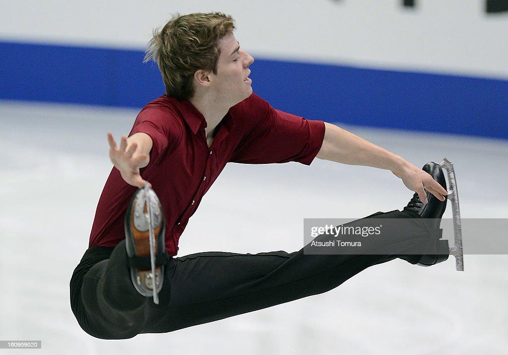 Richard Dornbush of USA skates in the Mens Short Program during day one of the ISU Four Continents Figure Skating Championships at Osaka Municipal Central Gymnasium on February 8, 2013 in Osaka, Japan.