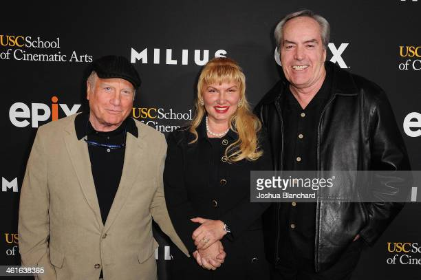 Richard Dreyfuss Svetlana Erokhin and Powers Boothe arrive at EPIX USC Host An Evening With John Milius at USC Norris Theatre on January 9 2014 in...