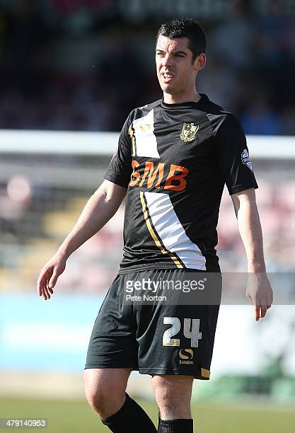 Richard Duffy of Port Vale in action during the Sky Bet League One match between Coventry City and Port Vale at Sixfields Stadium on March 16 2014 in...
