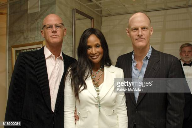 Richard Dupont Beverly Johnson and Robert Dupont attend Mayor Antonio Villaraigosa celebrates Nikki Haskell's Birthday at Sierra Towers on May 17th...